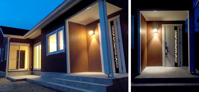 おしゃれな北欧風住宅:玄関
