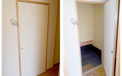 おしゃれな北欧風住宅:大容量の収納スペース