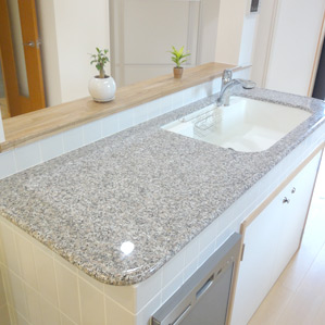 石材キッチン